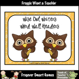 Teacher Resource--Scrappin Doodles Graphics Wise Owl Writers Word Wall Headers