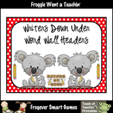 Teacher Resource--Scrappin Doodles Graphics Writers Down Under Word Wall Headers