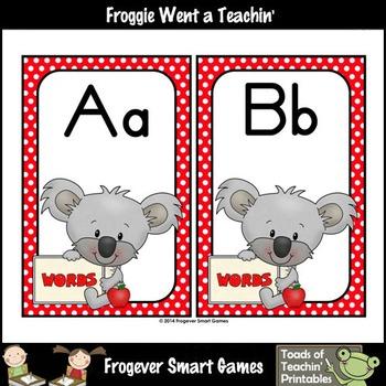 Teacher Resource--Scrappin Doodles Graphics Writers Down Under Word Wall Headers