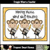 Teacher Resource--Scrappin Doodles Graphics Monkey Mania Word Wall Headers