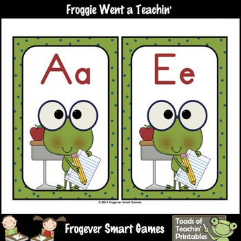 Teacher Resource--Scrappin Doodles Graphics Smarty Pants Frogs Word Wall Headers