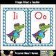 Teacher Resource--Super Hero Gators Word Wall Headers (aqua/purple)