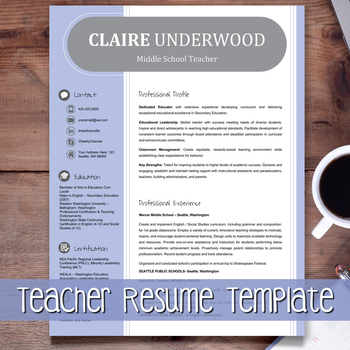 Teacher Resume Template + Cover Letter + Ref. (PURPLE) Google Slides EDITABLE