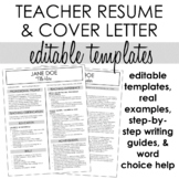 Teacher Resume & Cover Letter Template #2 + Step-by-Step W