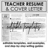 Teacher Resume & Cover Letter Template + Step-by-Step Writ