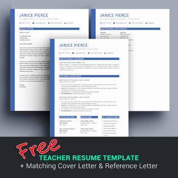 Free Teacher Resume Template