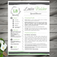 Teacher Resume Template + Cover Letter + References (FLORAL) PowerPoint EDITABLE