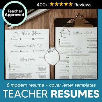 8 Teacher Resume Template Cover Letter Templates For Educators