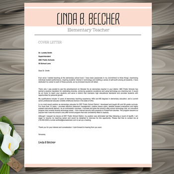 Teacher Resume Template + Cover Letter and References - MS PowerPoint EDITABLE