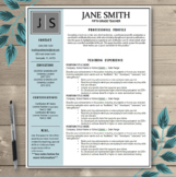 Teacher Resume Template EDITABLE - Black, Slate & Grey The