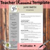 Teacher Resume Template EDITABLE - Floral Hexagon Theme