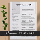 Bronze Teacher Resume Template Editable + Cover Letter and More.