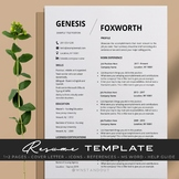 Modern Teacher Resume Template Editable 1,2 Pages + Cover Letter and More.