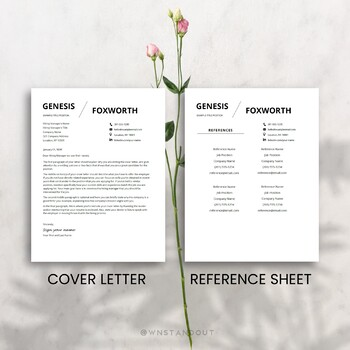 modern teacher resume template editable 1 2 pages cover letter and
