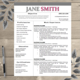 Teacher Resume Template Editable Color Name