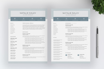 Teacher Resume Template For MS Word | 4 Pages | Cover Letter | Icon Pack