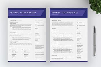 Teacher Resume Template For MS Word | CV Template | Cover Letter