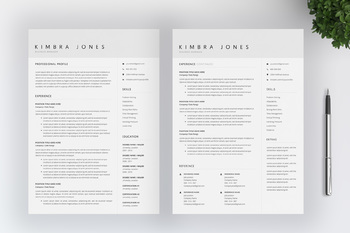 Teacher Resume Template For MS Word | CV Template | Cover Letter | Icon Pack