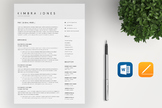 Teacher Resume Template For MS Word | CV Template | Cover