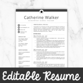 Teacher Resume Template For MS Word + Mac Pages    Educato