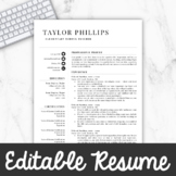 Teacher Resume Template For MS Word + Mac Pages |  Educator Resume Writing Guide