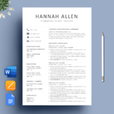 Teacher Resume Template and Cover Letter for MS Word + SPECIAL BONUS