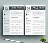 Teacher Resume Template and Matching Cover Letter for MS W