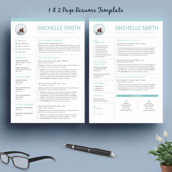 Teacher Resume Template and Matching Cover Letter for MS Word + SPECIAL BONUS