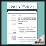 School Resume Teacher, CV Template, Cover Letter Word, Tea