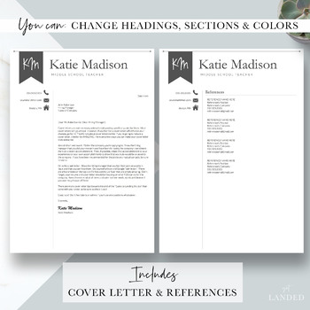 Teacher Resume Template For Word Pages The Katie By Get Landed