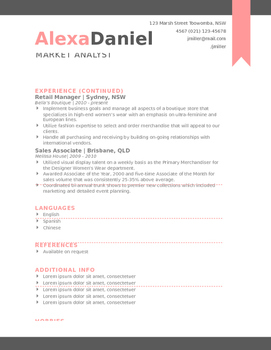 Teacher Resume - The Alexa Daniels Edition