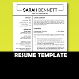 Educator Resume, Teacher Resume Word, Resume Teacher, CV Template