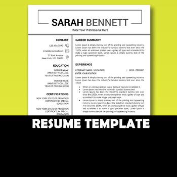 educator resume teacher resume word resume teacher cv template
