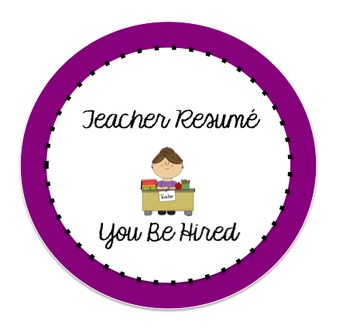 Teacher Resume You Be Hired Logo