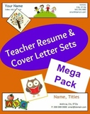 Teacher Resume and Cover Letter Sets