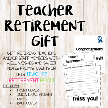 Teacher Retirement Gifts Worksheets Teaching Resources Tpt