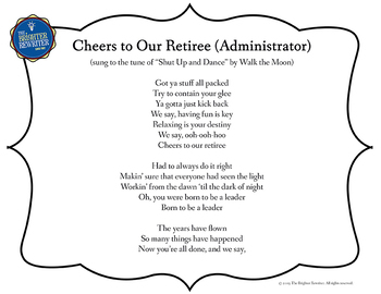 Retirement Song Lyrics for Shut Up and Dance