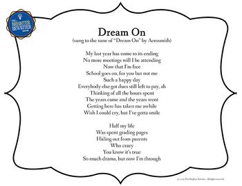 Retirement Song Lyrics for Dream On