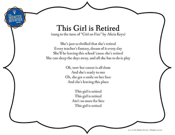 Retirement Song Lyrics for Girl on Fire