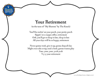 Retirement Song Lyrics for My Sharona