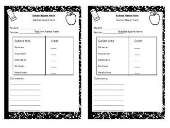 teacher retirement survival kit and report card by shopgirl mrs v