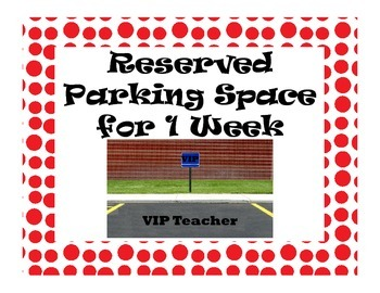 Teacher Reward Choice Posters