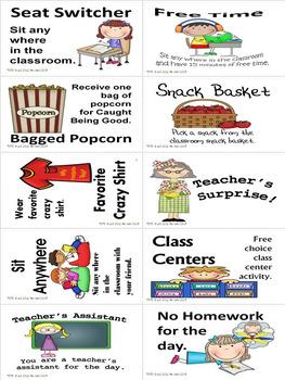 Teacher Reward Coupons