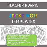 Teacher Rubric Sticky Notes Templates