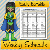 Teacher SCHEDULE: Elementary Classrooms