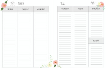 Organizing Monthly and Weekly Calendars (2017)