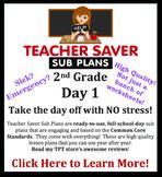 2nd Grade Sub Plans (Day 1) - An organized, clear, full da