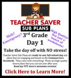 3rd Grade Sub Plans (Day 1) - An organized, clear, full da