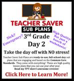 3rd Grade Sub Plans (Day 2) - An organized, clear, full da