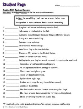 Teacher Saver Sub Plans - 3rd Grade Substitute Plans BUNDLE (Days 2 & 3)